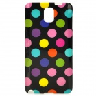 Protective Polka Dot TPU Back Case for Samsung Galaxy Note 3 / N9000 - Black + Colorful