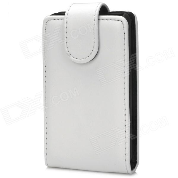 Protective PU Leather Top Flip Open Case for LG Optimus L3 II - White + Black protective pu leather case for lg optimus 3d p920 black