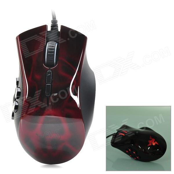Razer Naga Wired USB 2.0 5600dpi Optical Mouse - Black + Red