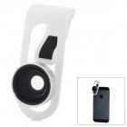0.65X Wide Angle + Macro Lens for Samsung HTC Iphone - White