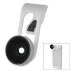 Clip-On ABS + Glass Fish Eye for Samsung / HTC / Iphone / Tablet PC - White