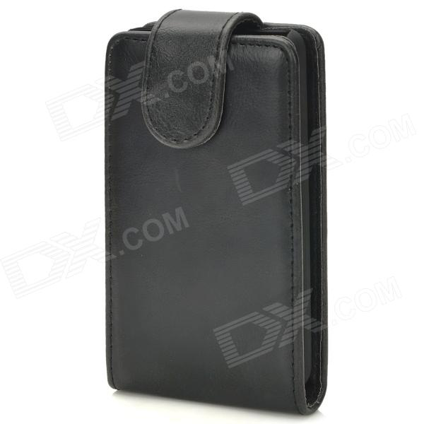 Protective Flip-Open PU Leather + Plastic Case for LG Optimus L3 II - Black