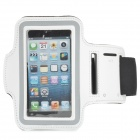 Sports Gym Neoprene + Stretch Cotton Armband Case for Iphone 5 / 5c / 5s - White