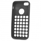 Stylish Hollowed Hole Silicone Back Case for Iphone 5C - Black