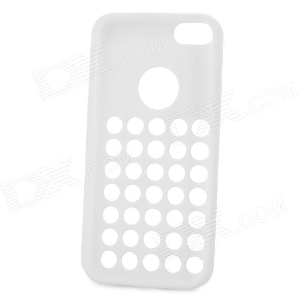 Stylish Hollowed Hole Silicone Back Case for Iphone 5C - White оригинальный samsung galaxy s8 s8 plus nillkin супер матовая защита щита случай телефона