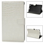 Fashion Alligator Muster pu Ledertasche w / Card Slots für Google Nexus 7 II - Beige + Weiß