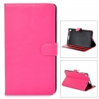 Protective PU Leather Case w/ Multi-Angle Stand for Google Nexus 7 II - Deep Pink