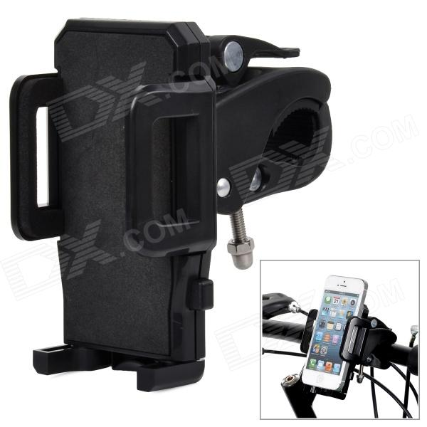 Universal Cycling Bike / Motorcycle Plastic Holder + Mount for Cellphone - Black concept car universal windshield mount holder for iphone samsung cellphone black