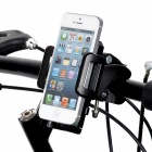 Universal Cycling Bike / Motorcycle Plastic Holder + Mount for Cellphone - Black