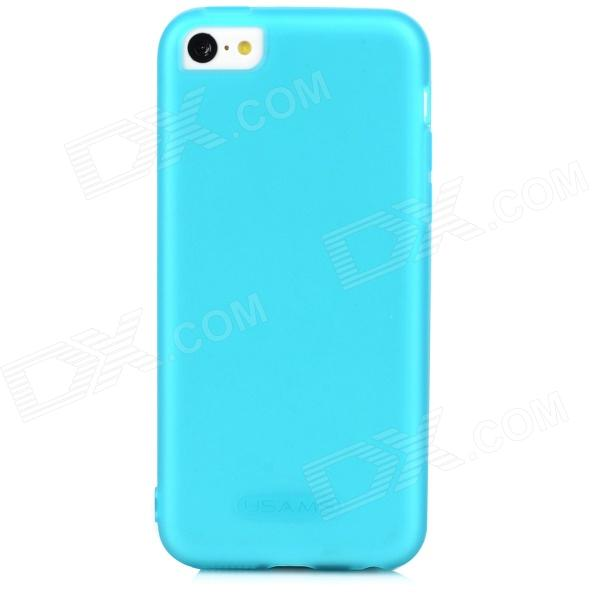 USAMS Protective Silicone Back Case for Iphone 5C - Translucent Blue protective plastic case for iphone 5c blue