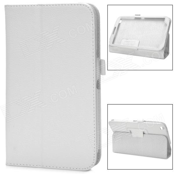 Protective Flip Open PU Case w/ Stand for Samsung Galaxy Tab 3 8.0 (T310) - White
