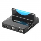 Multifunction Micro USB Charging Dock + USB HUB + Card Reader for Samsung N7100 / i9220 / i9300