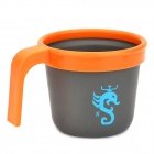 ALOCS TW-403 Outdoor Camping Aluminum Alloy Cup Mug - Orange + Deep Grey (300ml)