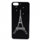 Protective Iron Tower Pattern Back Case for Iphone 5C - Black + Silver + White