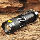 RUSTU XL-01 180lm 1-Mode White Zooming Flashlight w/ Cree XP-E Q5 - Black (1 x 14500 / AA)