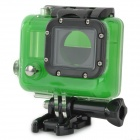 Waterproof Clear Protective Plastic + Stainless Steel Case for GoPro Hero 3 - Green + Black