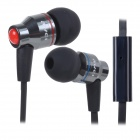 AWEI TE 800i Super Bass In-Ear Earphone w/ Clip for Samsung Note 2 / S3 / S4 - Black (3.5mm Plug)
