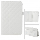 Checked Style Protective PU Leather Case for Asus ME173X - White