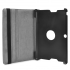 "360 Degree Classic Litch Pattern Flip-open PU Leather Case for ASUS ME301T 10.1"" - Black"