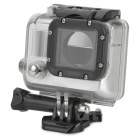 Waterproof Clear Protective Plastic + Stainless Steel Case for GoPro Hero 3 - Silver + Black