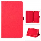 Y7-2-20R Ultrathin Protective PU Leather Case w/ Sleep Function for Google Nexus 7 II - Red