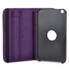 Protective 360 Degree Rotatable PU Leather Case for Samsung Galaxy Tab 3 8.0 T310 - Purple