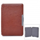 Protective PU Leather Case for KOBO GLO E-Book - Brown