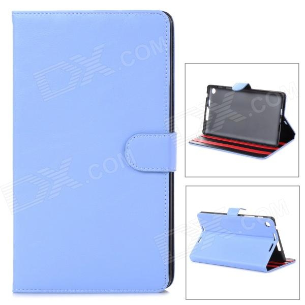Protective PU Leather Case w/ Multi-Angle Stand for Google Nexus 7 - Blue lichee pattern protective pu leather case stand w auto sleep cover for google nexus 7 ii white