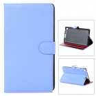 Protective PU Leather Case w/ Multi-Angle Stand for Google Nexus 7 - Blue