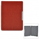 Stylish Protective PU Leather Case for KOBO AURA HD - Brown