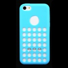 Round Hole Protective Silicone Back Case for iPhone 5c - Blue