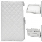 Squares Grid Pattern Stylish Protective PU Leather Pattern Case for Google Nexus 7 II - White