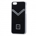 Elegant Protective PC + Aluminum Back Case for Iphone 5C - Black + White + Silver