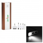 Z7 Universal Dual-USB Portable 20000 mAh Power Bank w/ LED Flashlight - Coffee + White