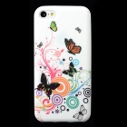 Colorful Butterfly Style Protective Silicone Back Case for Iphone 5C - Multicolor