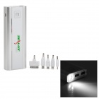 Z7 Universal Dual-USB Portable 20000 mAh Power Bank w/ LED Flashlight - Argent + Silver