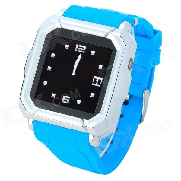 Iradish HD-i900 GSM Watch Phone w/ 1.54 Resistive Screen, Quad-Band, Bluetooth and FM - Blue kiccy a6 gsm watch phone w 1 54 screen bluetooth quad band and bluetooth blue silver