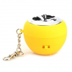 Apple Style Mini Portable Rechargeable Speaker - Yellow + Silver