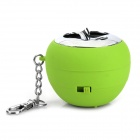 Apple Style Mini Portable Rechargeable Speaker - Green + Silver