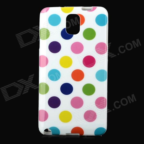 Polka Dot Style Protective TPU Back Case for Samsung Galaxy Note 3 N9000 - Multicolor handpainted cactus and polka dot printed pillow case