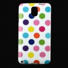 Polka Dot Style Protective TPU Back Case for Samsung Galaxy Note 3 N9000 - Multicolor