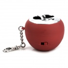 Apple Style Mini Portable Rechargeable Speaker - Red + Silver