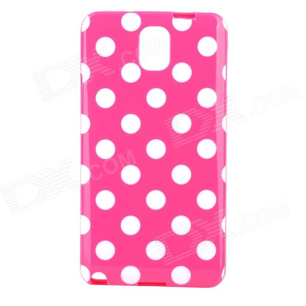 Polka Dot Style Protective TPU Back Case for Samsung Galaxy Note 3 N9000 - Deep Pink + White s style protective pc back case for samsung galaxy note 3 n9000 white