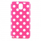 Polka Dot Style Protective TPU Back Case for Samsung Galaxy Note 3 N9000 - Deep Pink + White