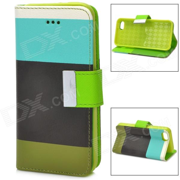 Protective PU Leather Case for Iphone 5C - White + Blue + Black + Green protective pu leather case w touch cover for iphone 5c white black