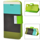 Protective PU Leather Case for Iphone 5C - White + Blue + Black + Green