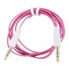 3.5mm TRS Male to Male Flat Audio Cable - Deep Pink (100cm-Length)