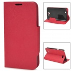 Protective PU Leather Case for Samsung N7100 - Red