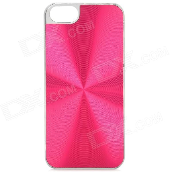 Stylish CD Grain Style Protective Aluminum Alloy + PC Back Case for Iphone 5S - Deep Pink cd диск guano apes offline 1 cd