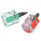 WLXY WL-605 Mini Flat Head Cross Head Screwdriver Set Beauty Equipment Tool - Green + Red